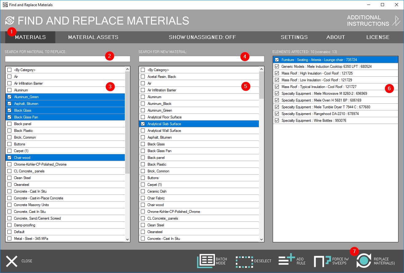 POLYNINE STUDIO: Find and Replace Materials for Revit